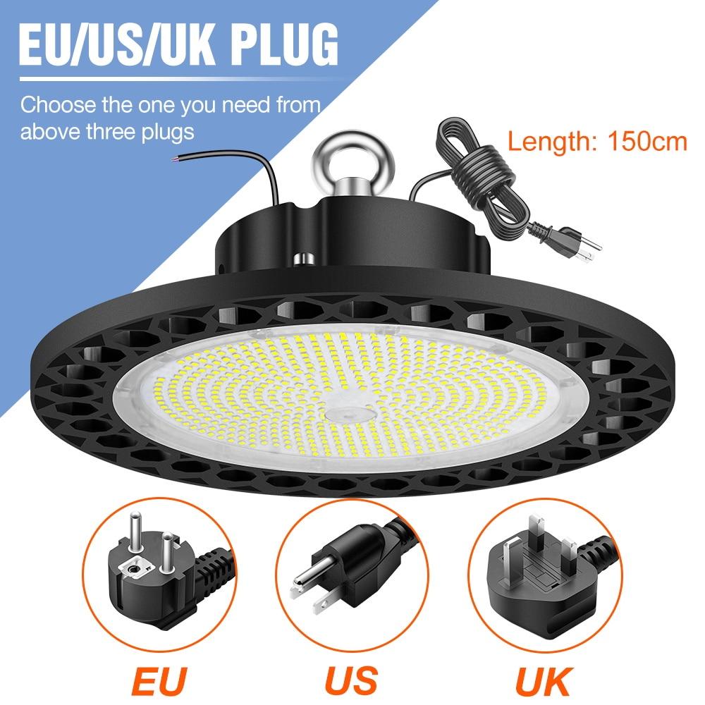 UFO Led High Bay Light Industrial Lamp 110V Ceiling Chandelier Spotlight Factory Workshop Warehouse Lighting 100W 150W 200W 240W enlarge