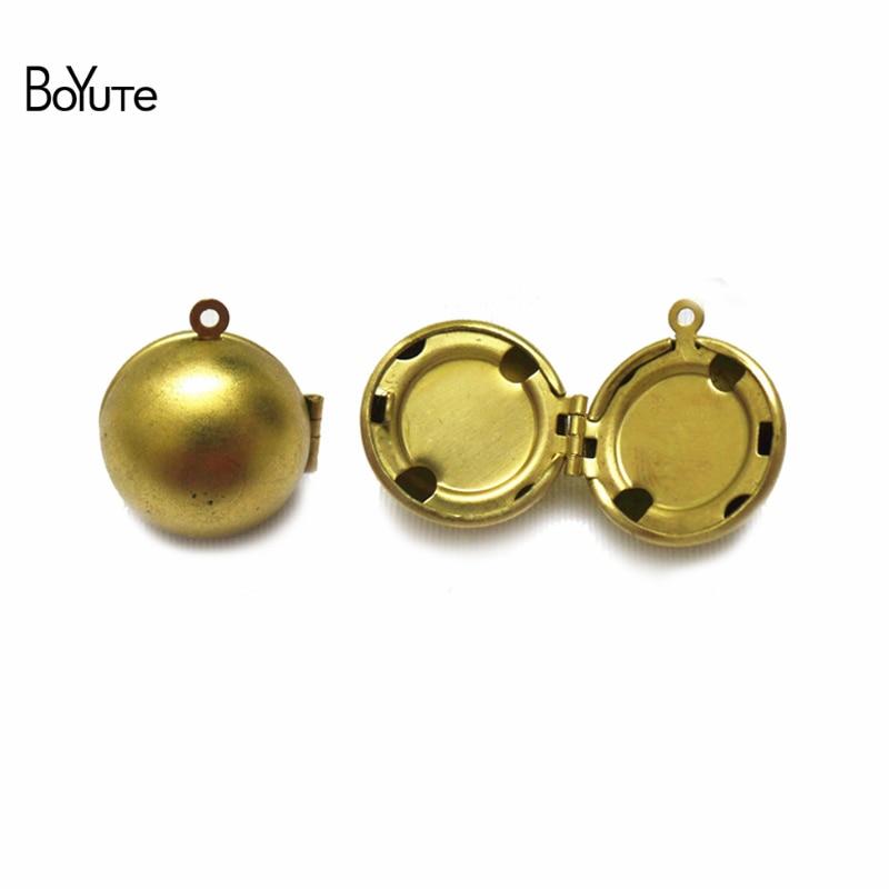 BoYuTe (100 أجزاء/وحدة) 18 مللي متر كرة مستديرة النحاس المنجد قلادة المواد مصنع توريد اليدوية لتقوم بها بنفسك مجوهرات اكسسوارات بالجملة