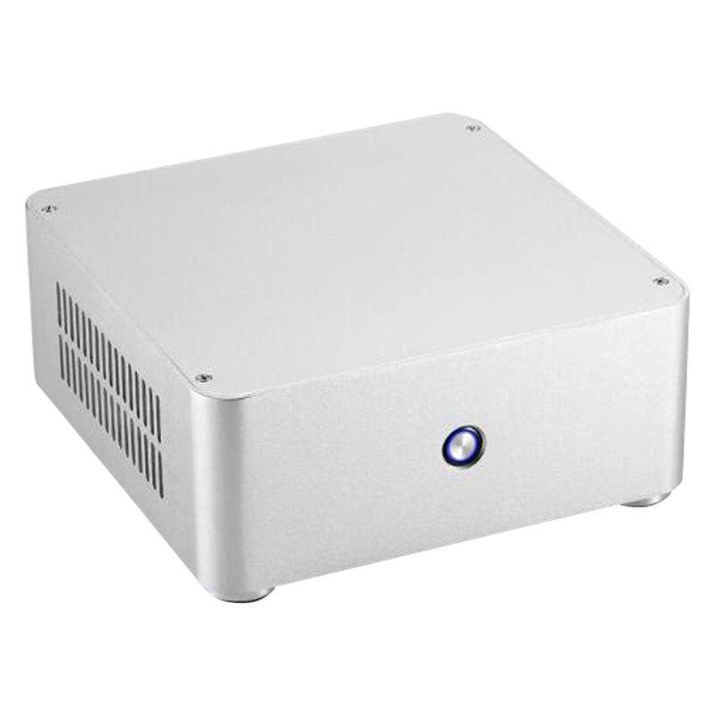 H80 Mini ITX estuche de ordenador estuche para PC de aluminio chasis para sin fuente de alimentación