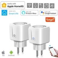 Prise intelligente WiFi 16a avec minuterie  controle Via lapplication Tuya SmartLife  fonctionne avec Alexa Google Assistant Apple Homekit