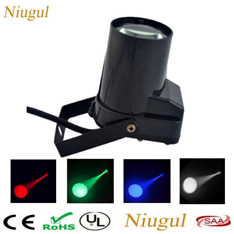 Mini portátil 5 w única cor led pinspot luz forte spotlight led feixe paisagem lâmpada dj festa mostrar fase ponto lightin
