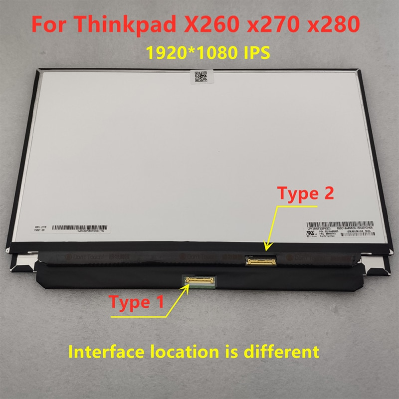 B125HAN02.2 N125HCE-GN1 M125NWF4-R3 LP125WF2-SPB2 لباد X260 X270 X280 FHD IPS LCD شاشة LED