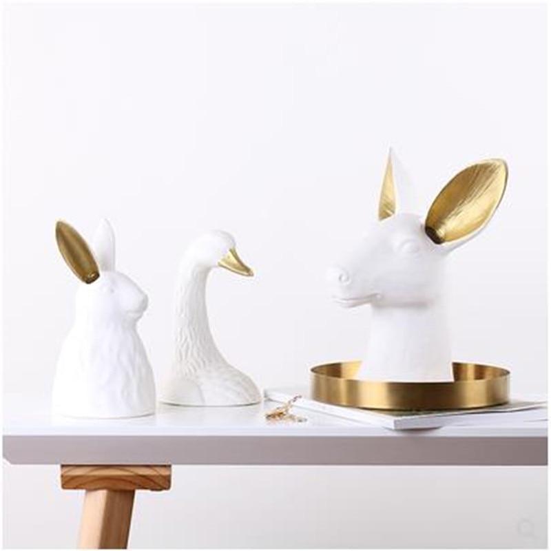 Голова животного, креативное художественное оформление, голова оленя, голова лебедя, голова кролика, украшение для дома, офиса, ресторана, р...