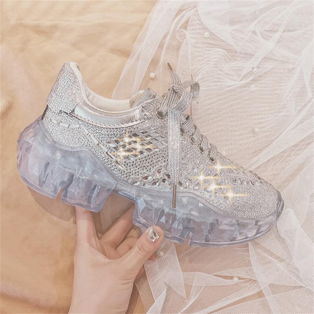 Осенне-зимняя новая женская повседневная обувь, модная популярная женская обувь со стразами, спортивная обувь, модная женская обувь