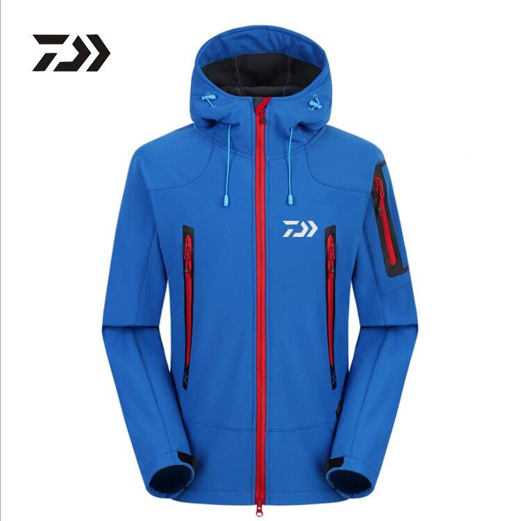 Chaqueta de ropa Daiwa para hombre abrigos de pesca en hielo de invierno impermeable cálido con capucha más terciopelo térmico para pesca al aire libre