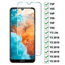 9H Tempered Glass For Huawei Y5P Y6P Y6S Y8S Y8P Y9S Y5 Lite Screen Protector Huawei Y5 Y6 Y9 Prime