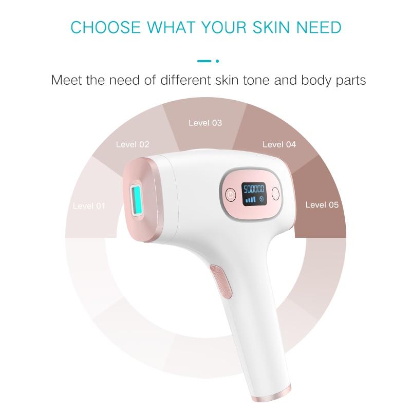 Ice Cool Laser Permanent Painless Portable epilator Skin Rejuvenation Facial Body IPL Hair Removal enlarge
