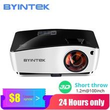Proyector de tiro corto BYINTEK K5, 4000ANSI Full HD 1080P, Proyector de Video, Proyector aéreo DLP 3D para cine, Educación diurna
