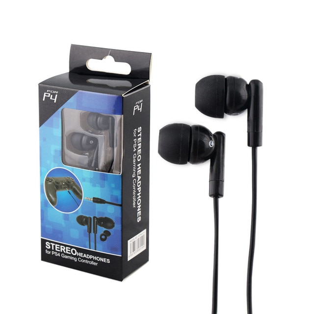 Game Headset Wire Line Earphone Double Bass 3.5MM For PS4 Support 2