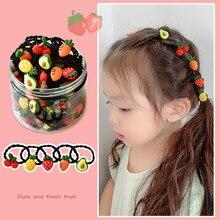 20/30 pz/scatola ragazze simpatico cartone animato frutta elastici per capelli fasce per bambini adorabili Scrunchies elastici accessori per capelli per bambini