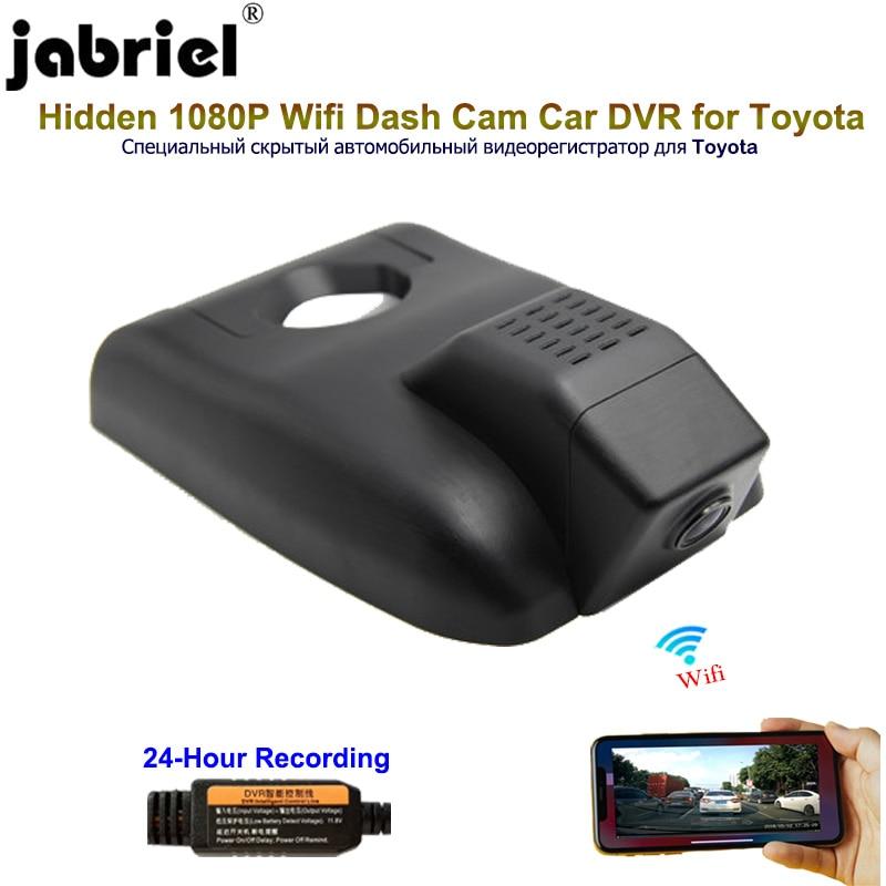Jabriel 1080P Car Dvr Car Camera 24 Hour Video recorder dual lensrear camera for Toyota Chr rav4 Camry yaris corolla avensis t25