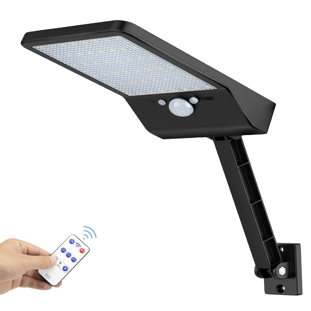 800lm 48 leds солнечный светильник для наружного сада уличная стена двора прожектор безопасности светильник ing с Adustable Angle