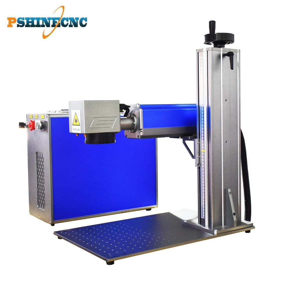 20w 30w Fiber Laser Marking Machine for YETI Mug with Routary