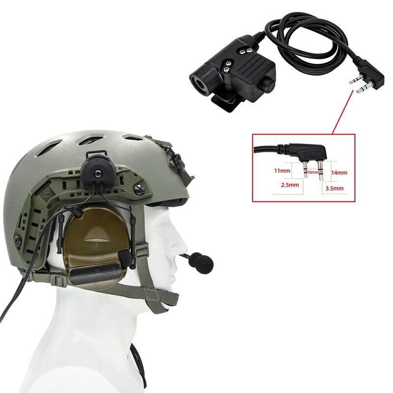 Taktische helm elektronische schießen headset COMTAC II noise reduktion pickup headset und taktische PTT U94 PTT(kenwood) FG