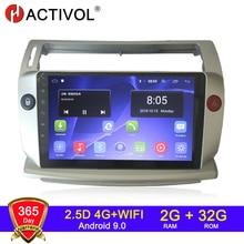 HACTIVOL 2G+32G Android 9.1 Car Radio for Citroen C4 C-Triomphe C-Quatre 2004-2009 car dvd player ca