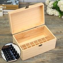 32 Slots Portable Storage Box Organizer Wooden Essential Oil Box for 15ml Bottles Storage Case Organizer With Handle Wooden Box