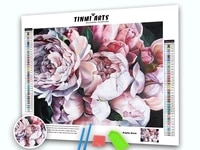 Peinture diamant theme fleur  broderie complete 5D  point de croix  mosaique  paysage  Rose  decoration dinterieur  cadeau