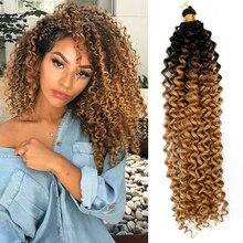 Yxcherishair Afro Curl Synthetic Crochet Hair Braiding Hair Extensions Water Wave Braids Bundles Freetress Afro kinky Twist Bulk