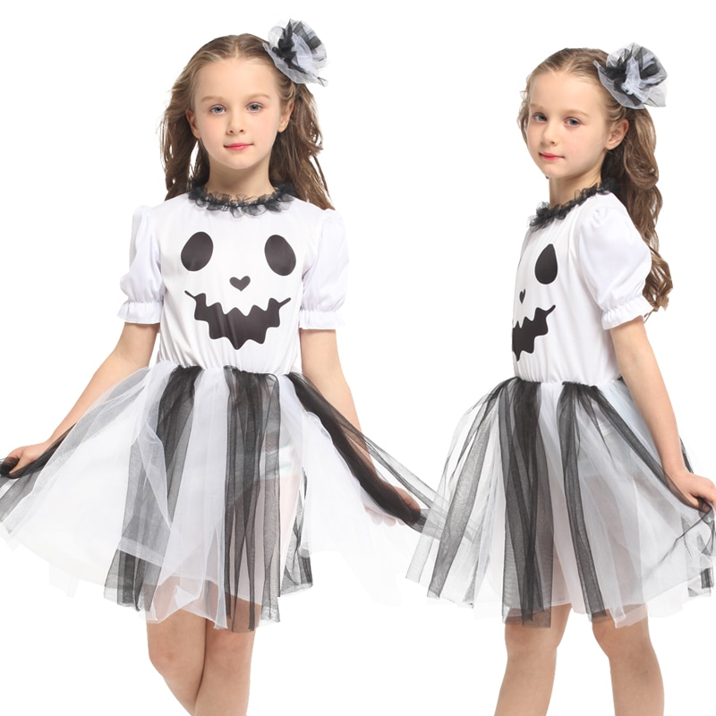 halloween children s costume cosplay girl horror vampire death ghost clothes little witch long sleeve costume girls prom dress girls costume dress vampire ghost cosplay halloween thin slim dress girl high quality polyester material