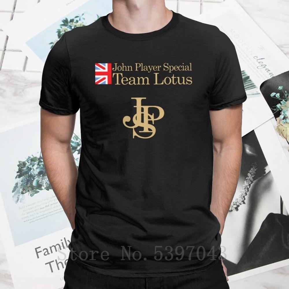 Camisetas de hombre únicas del Equipo Especial John Player Lotus, camisetas para el equipo John Player, casco de coche, camiseta de manga corta, 100% regalo de algodón