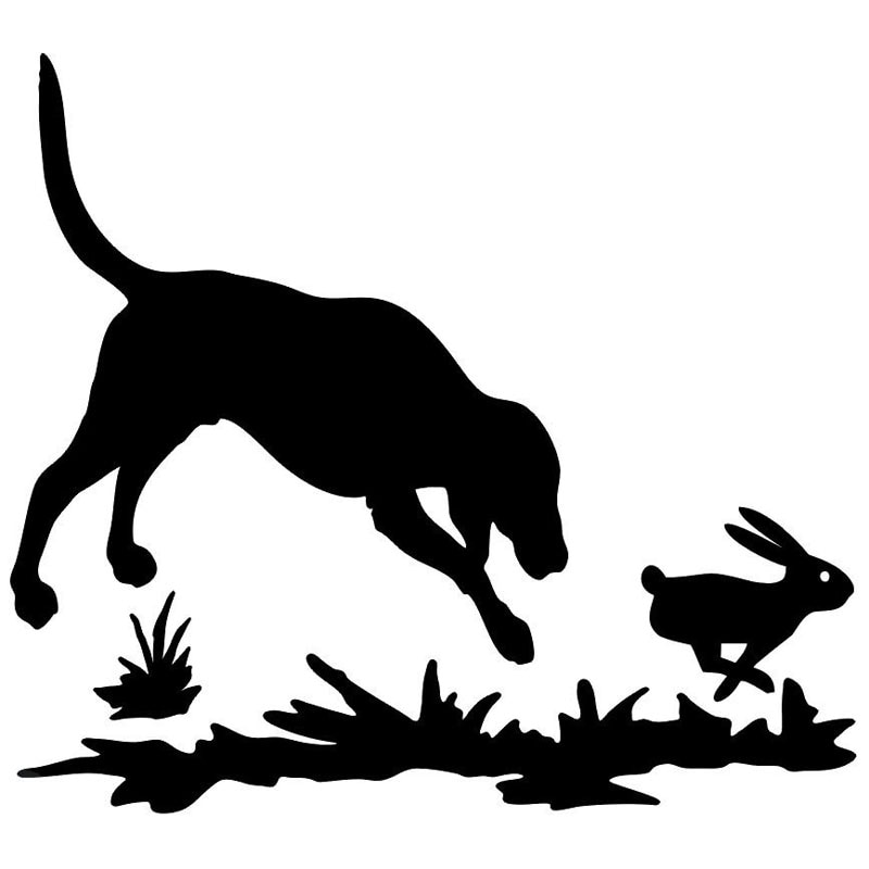 AliExpress - Car decals and stickers rabbit and dog hunting window personality cartoon car motorcycle exterior accessories Vinyl Decals