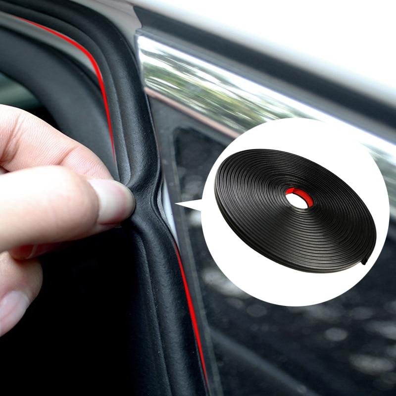 4M Universal B Type Car Door Seal Strips Sticker for renault scenic passat fiat 500x mitsubishi outlander Vesta lada accessories