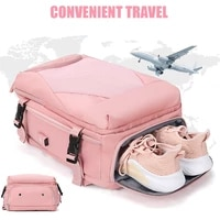 new waterproof women travel backpack high quality multifunction 15 6 inch business laptop backpacks with independent shoe bag