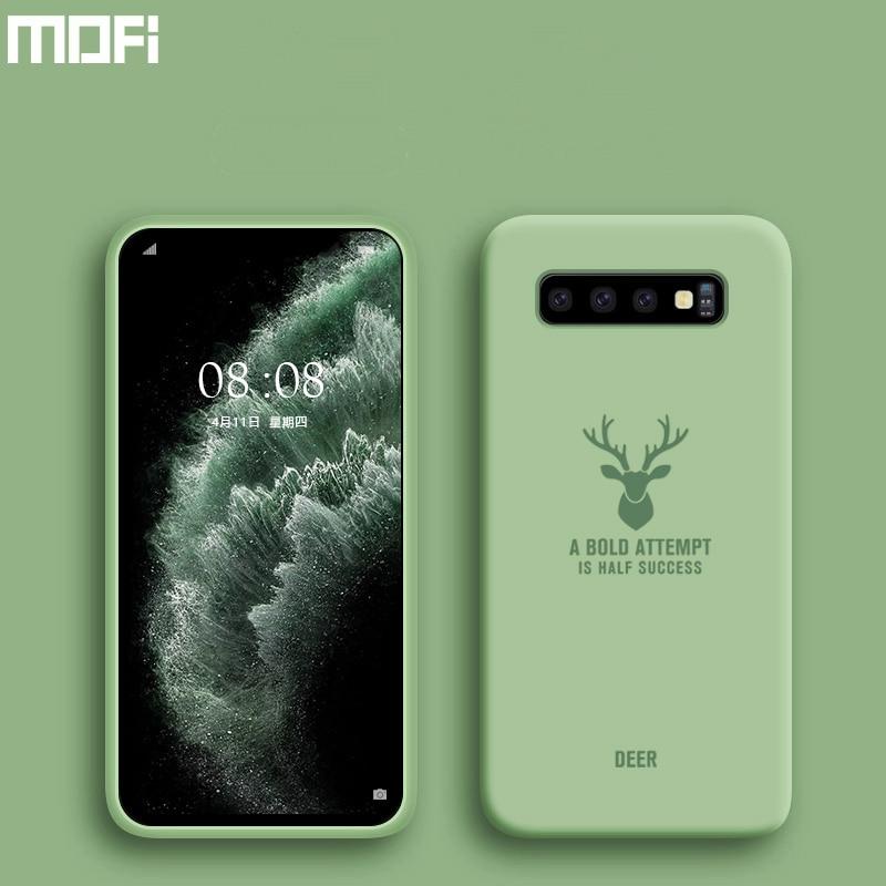 Funda MOFi para Samsung Galaxy S10 S9 S8 para Samsung Galaxy S10e, funda S10 + S9 + S8 + Plus, carcasa trasera de silicona blanda de Tpu a prueba de golpes