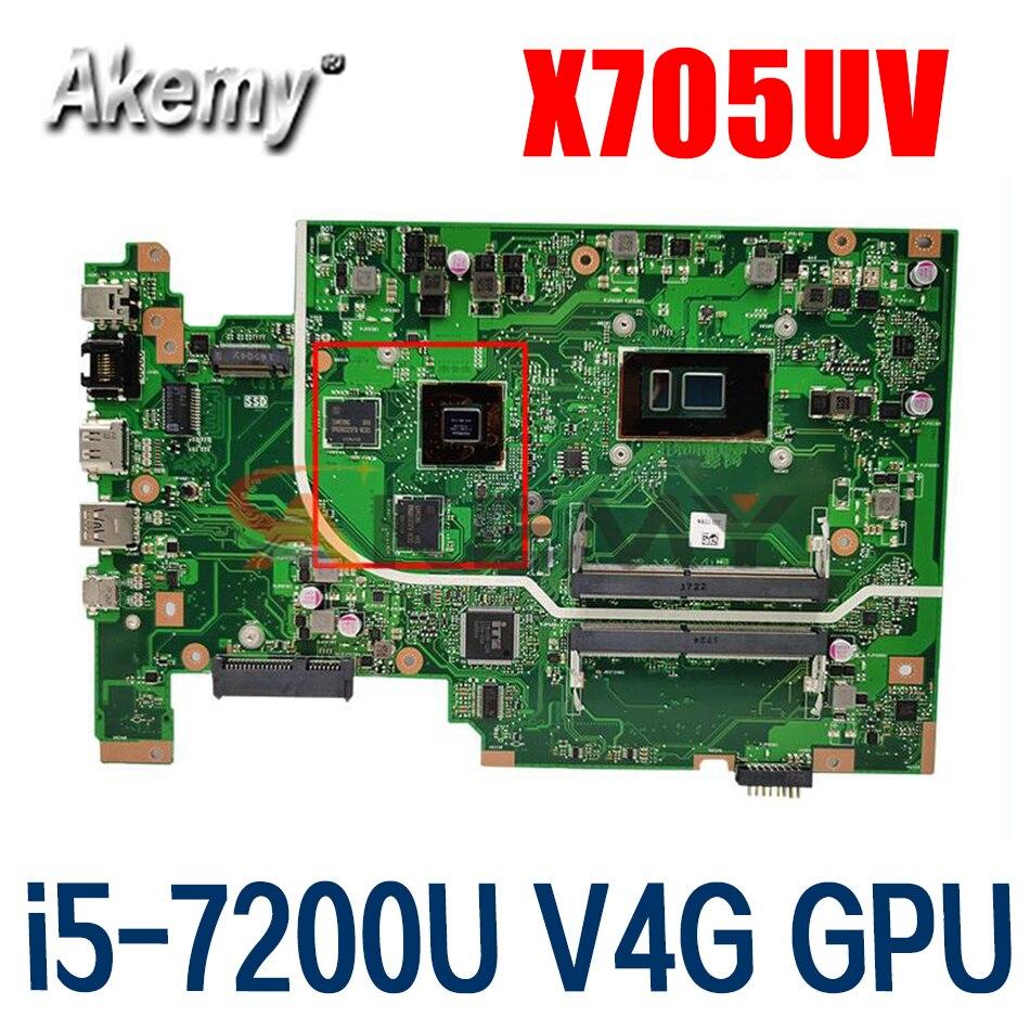 X705UV MB i5-7200U V4G GPU اللوحة ل ASUS X705UVR X705UQ X705UB X705UD X705UDR X705UN X705U اللوحة المحمول