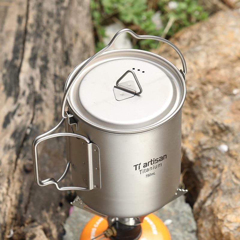 Dobrável e Portátil ao ar Combinação de Copo de Água Saúde e Proteção Ambiental do Metal Xícara de Chá Punho Livre Titânio Puro