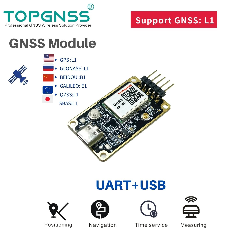 GNSS board RTD GNSS Dual-frequency neo-n9n design Support 10-25HZ GNSS L1 system GPS module NMEA0183 UBX TOPGNSS