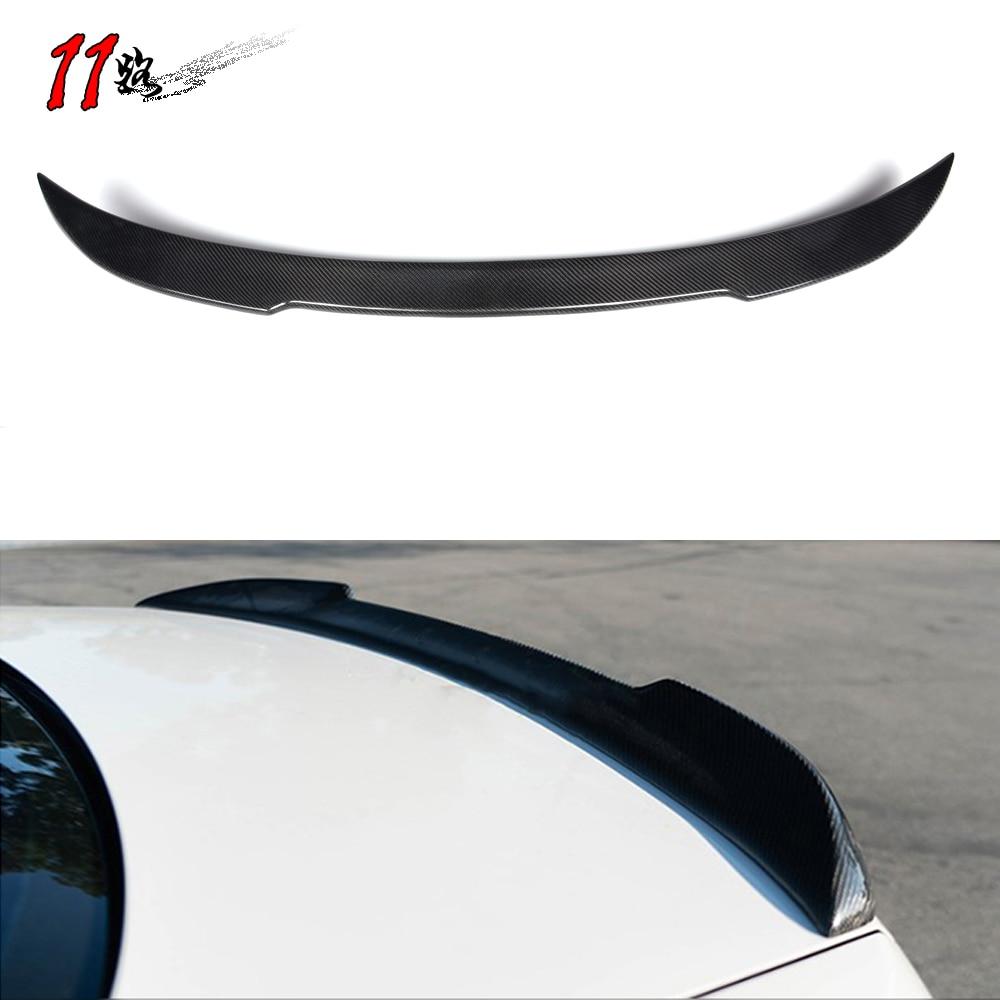 Spoilers de carbono forjado para 3 séries e90 sedan 2005-2011 asa traseira spoiler tronco boot asas spoilers tampa de fibra de carbono