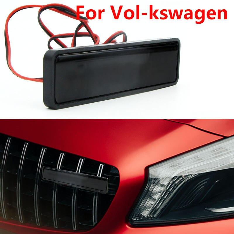 1 pçs estilo do carro chrome frente capa grille emblema luz led para volkswagen polo passat b5 b6 b7 t4 t5 golf 4 5 6 tiguan jetta gol