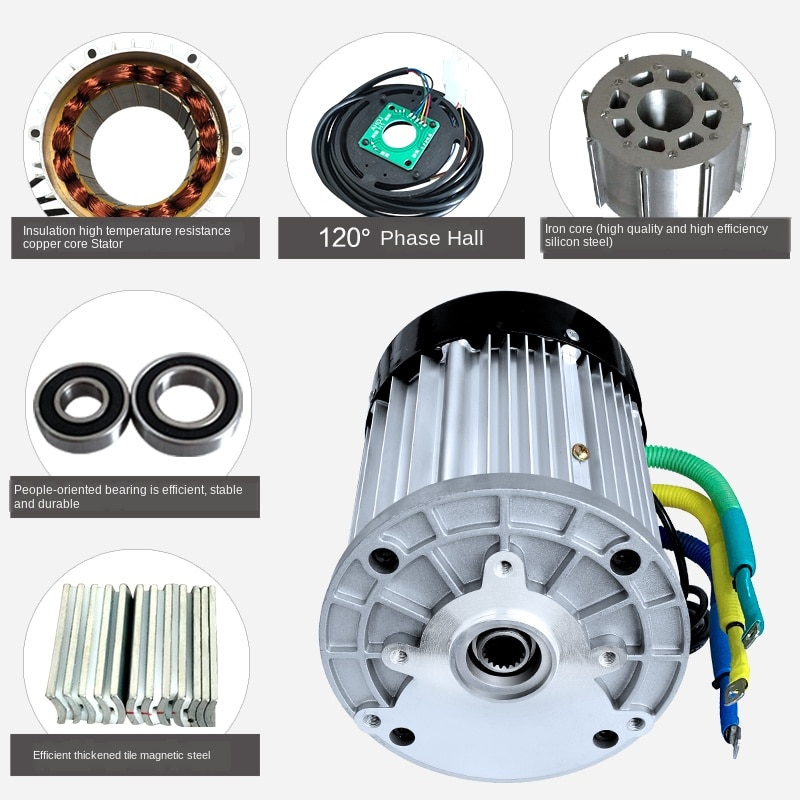 Electro-tricycle Motor 72v60v1200w Tricycle Motor High-power Electromobile DC Brushless Motor Electrical YGC34-47 enlarge