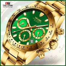 Gold case with green dial Watches Classic Vintage Mens Date automatic Mechanical Watch Self-Winding