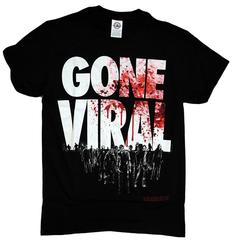 Men T shirt The Walking Dead Gone Viral Zombie Attack funny t-shirt novelty tshirt women