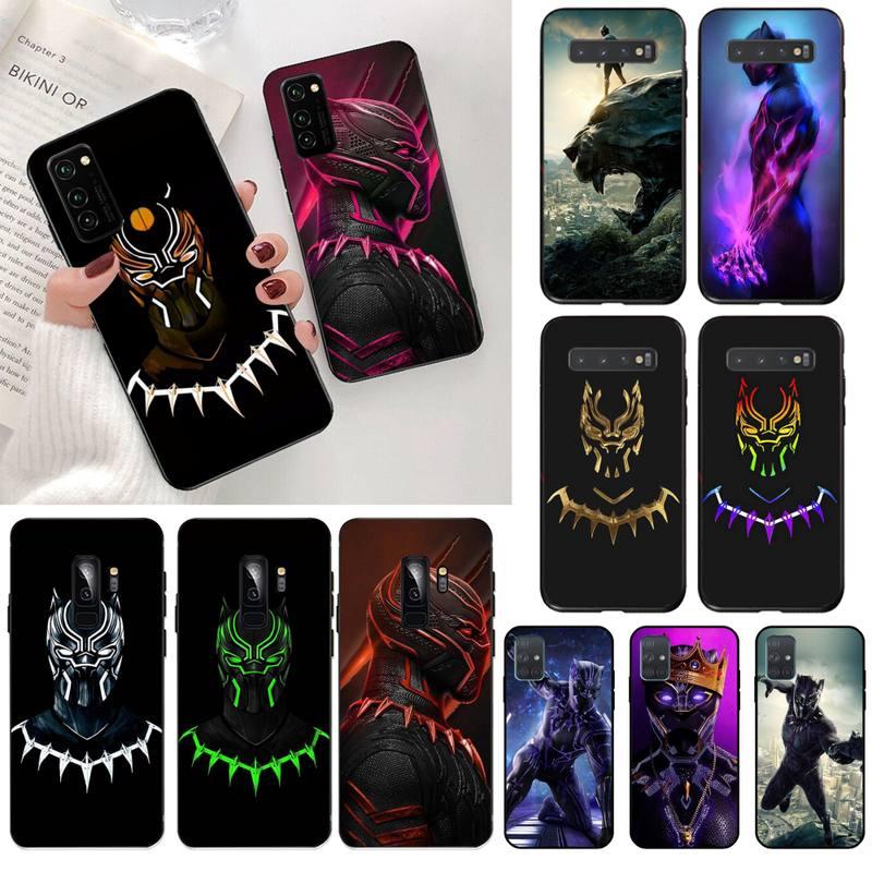 Funda de teléfono de silicona suave TPU Marvel Pantera Negra, funda para Samsung S20 plus Ultra S7 S6 edge S8 S9 plus S10 5G lite 2020