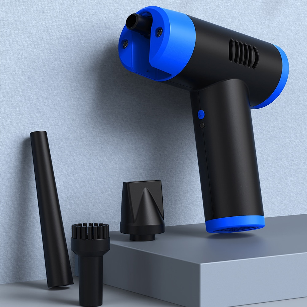Новинка, беспроводная пылесос для чистки компьютера, заменяет баллончики с компрессионным распылением и газом, перезаряжаемая воздуходувк...
