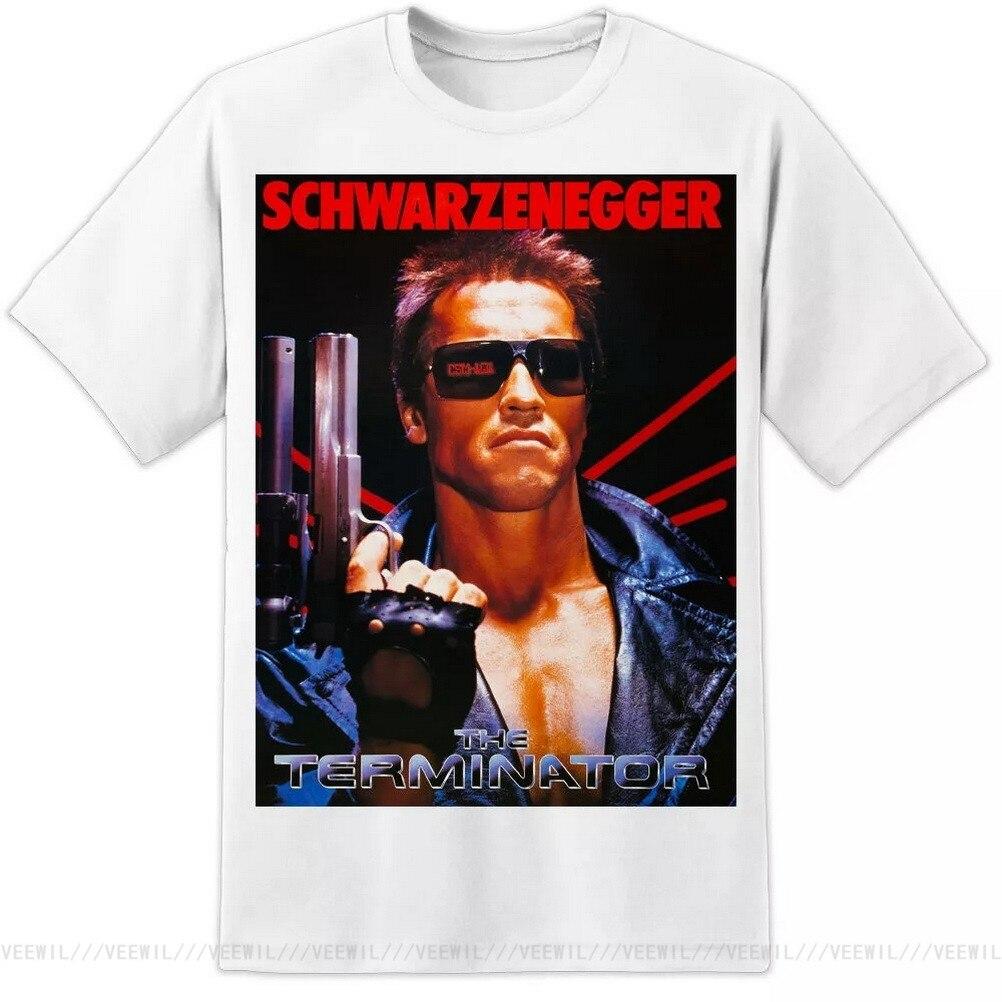 Camiseta con estampado de la película TERMINATOR, Camiseta de algodón de gran...