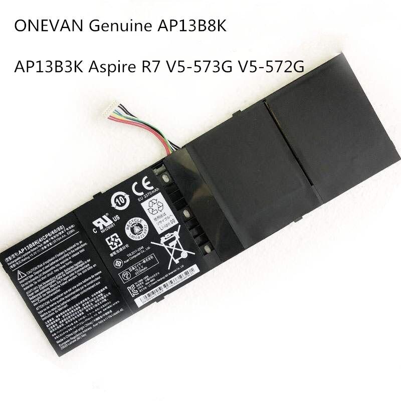 ONEVAN حقيقية AP13B8K لابتوب أيسر أسباير V5 R7 V7 V5-572G V5-573G V5-472G V5-473G V5-552G V5-572P R7-571 AP13B3K