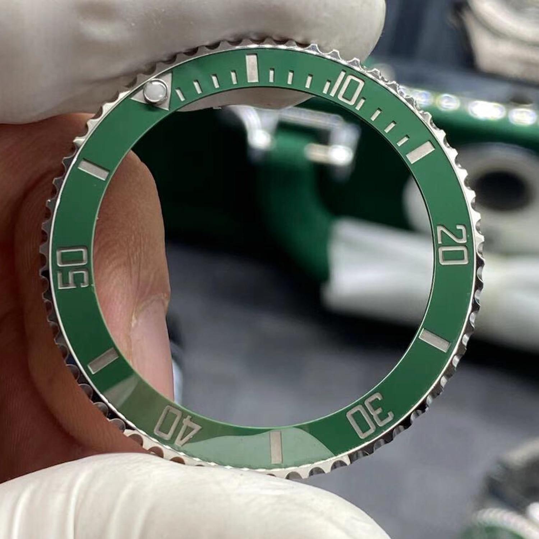 C FACTORY BEZEL V4 EDITION clean factory bezel with steel inert for green black submariner 116610 bezel 40mm