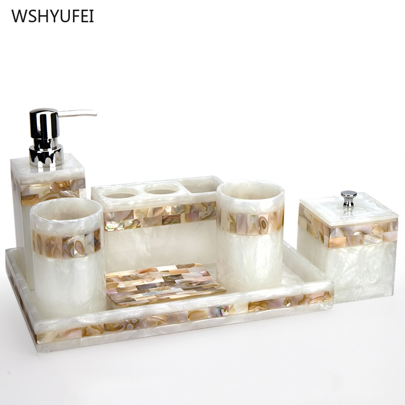 Light luxury shell home bathroom European wash suit bathroom supplies brush tooth cup soap bottle soap dish toothbrush holder