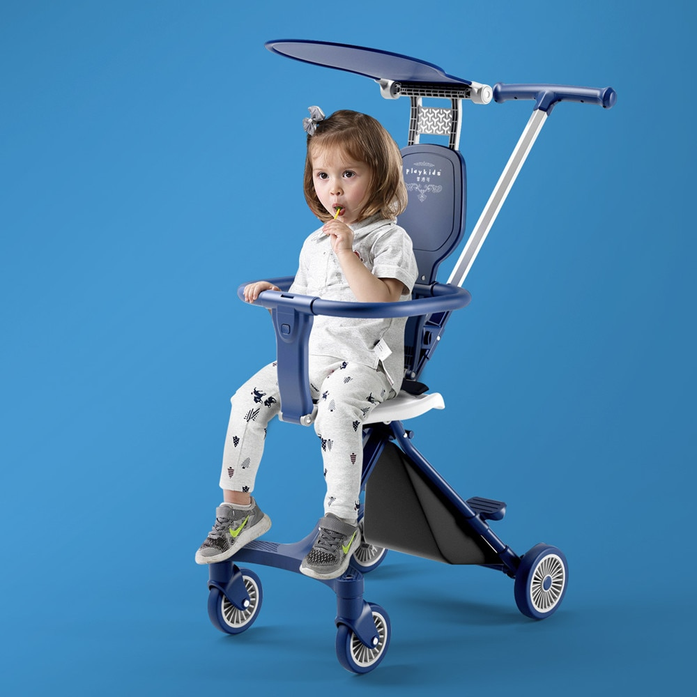 Magic Baby Stroller 4 Wheels Lightweight Baby Kids Shopping Magic Stroller Stable Trolley Fordable Stroller with Safety Fence enlarge