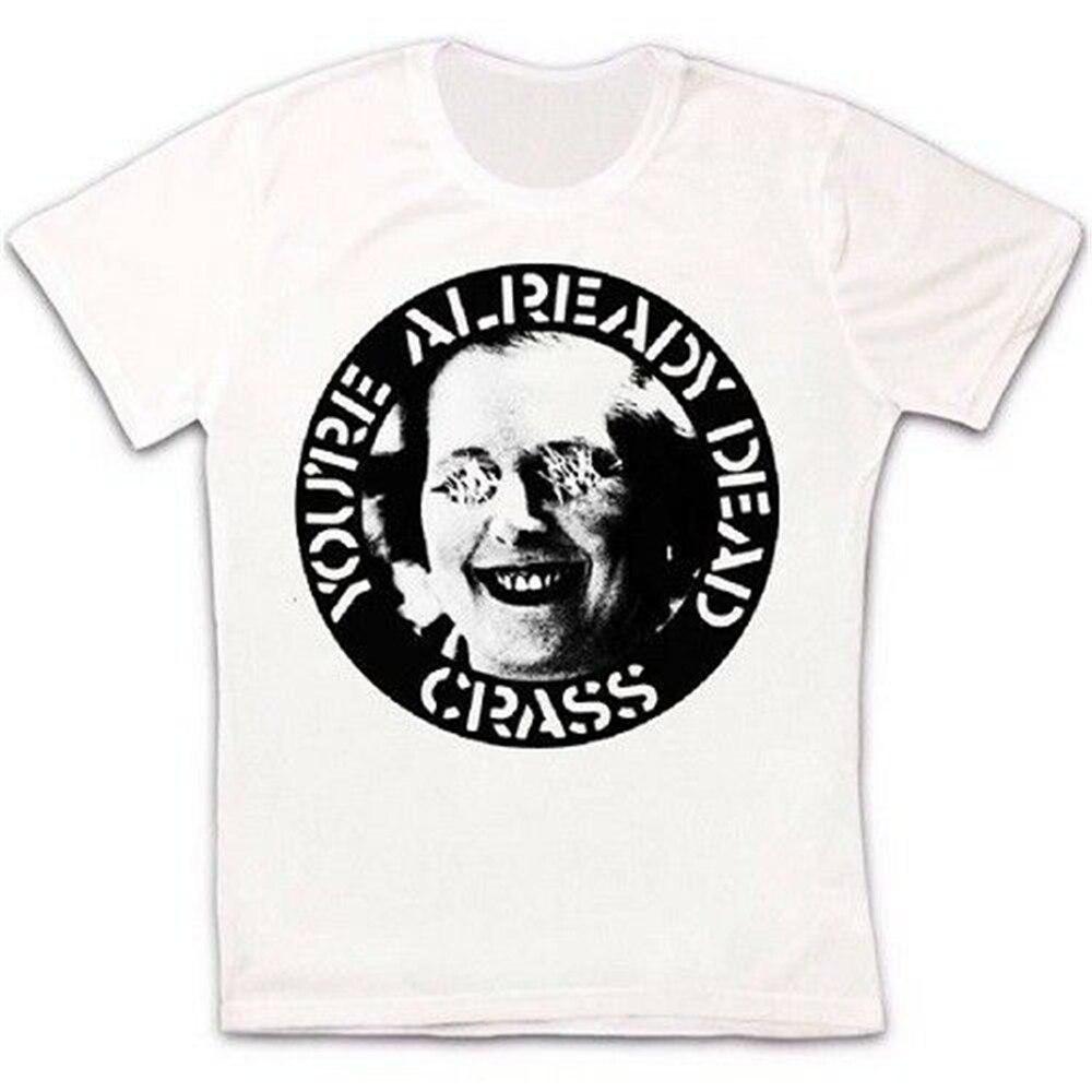 Crass you�ya muerto Punk Rock Retro Vintage Hipster Unisex camiseta 1686 camiseta colorida