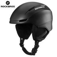 rockbros ski helmet integrally molded men women kid safety protect helmet thermal ultralight snowboard helmets accessories