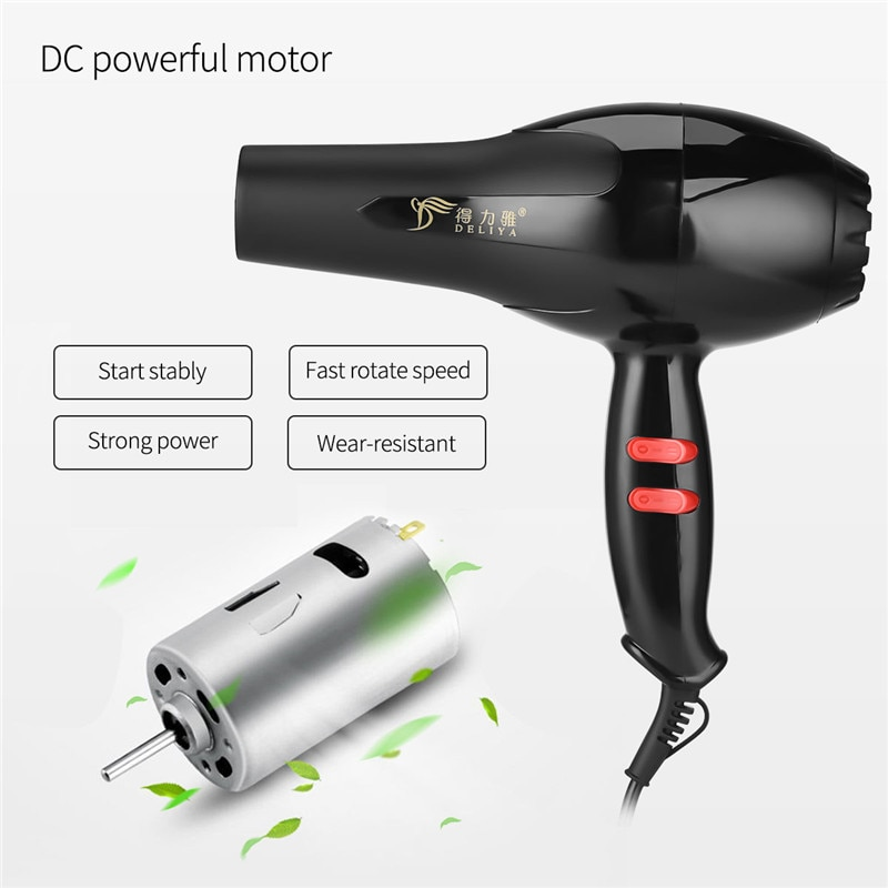Negative Ion Professional Hair Dryer with 3 Temperature and 2 Speed Settings Blow Dryer with Concentrator Nozzle Fast Drying enlarge