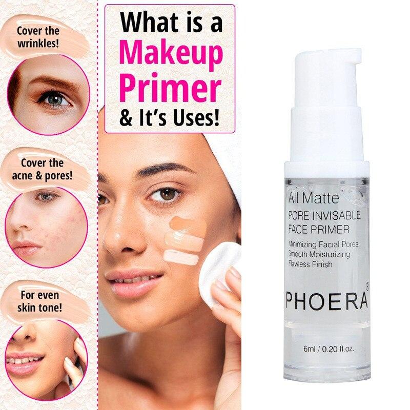 PHOERA 1PC mate duradera transparente maquillaje básico Spray 50ml 1PC de Control de aceite natural larga duración arreglar base de maquillaje en espray Primer