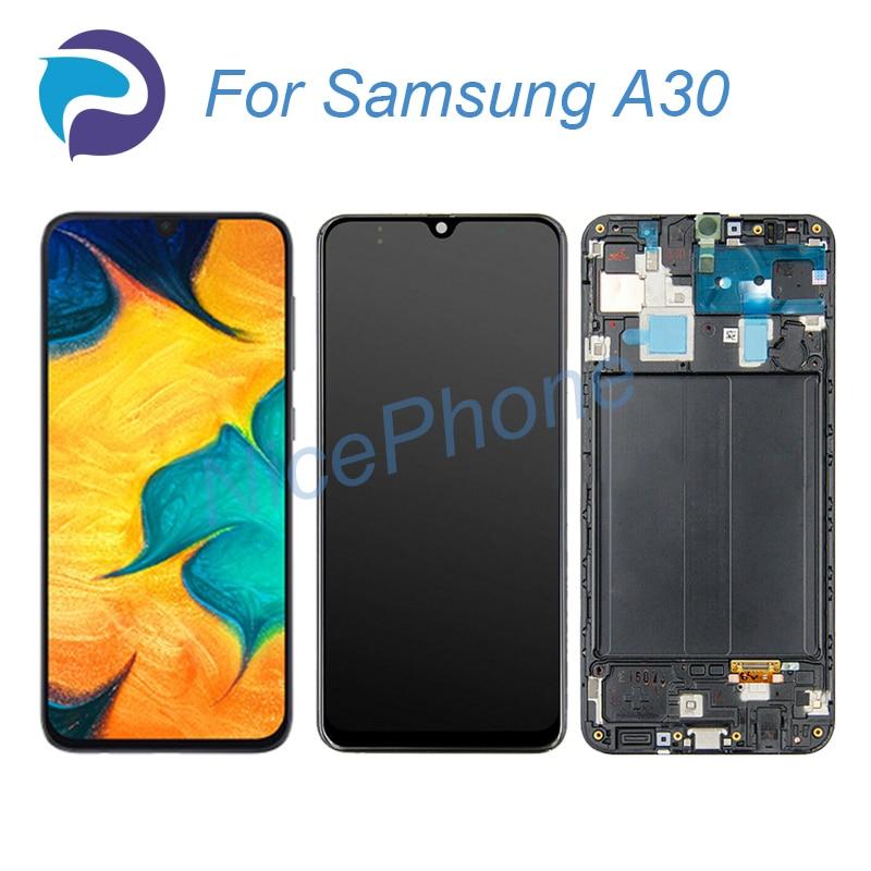 لسامسونج A30 شاشة LCD + اللمس محول الأرقام عرض 2340*1080 SM-A305F/FN/G/GN/YN/O/N/GT لسامسونج A30 LCD استبدال الشاشة
