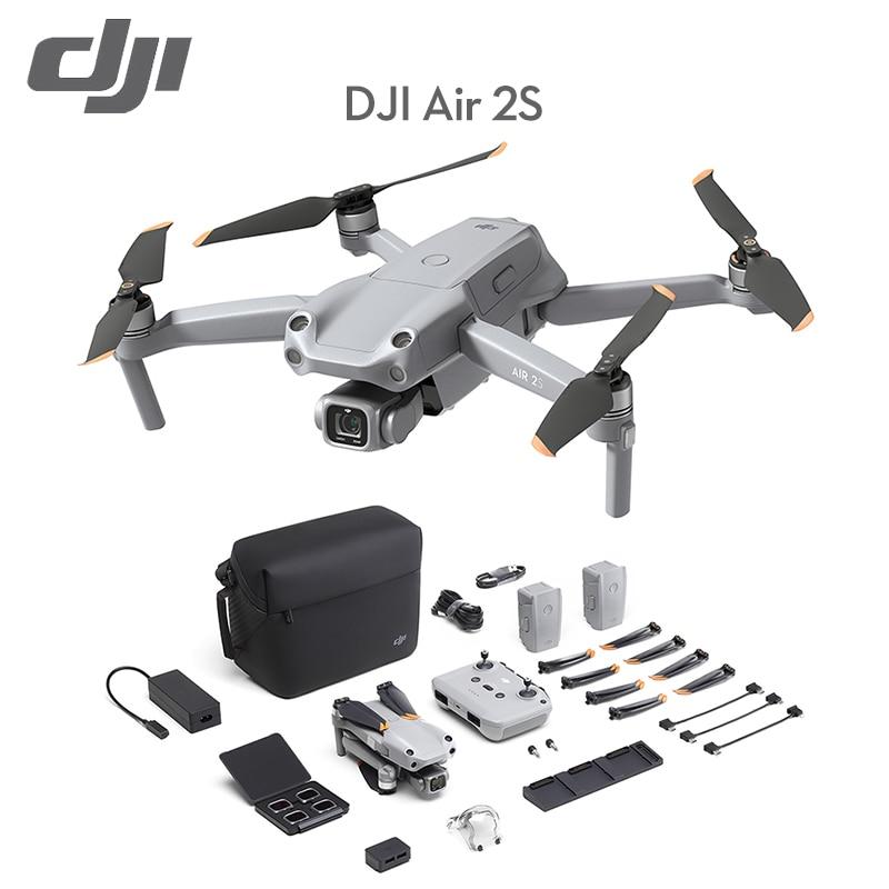 DJI الأصلي العلامة التجارية الجديدة الهواء 2S الطائرة بدون طيار/DJI الهواء 2S يطير أكثر كومبو الطائرة بدون طيار 1 بوصة CMOS الاستشعار 2.4μm بكسل 12 كجم 5...
