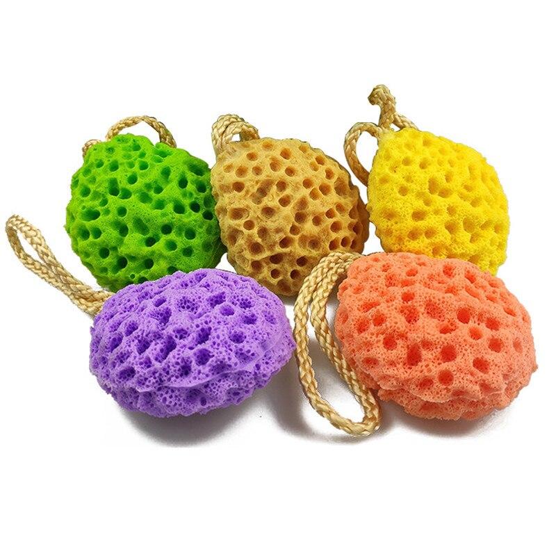 Water Droplet Honeycomb Soft Bath Ball Shower Bath Sponge Rub Wash Body Kids Adults Bath Brushes Bathroom Supplies